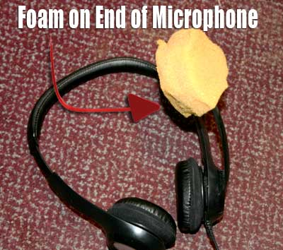 High quality microphone from foam cover
