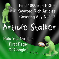keyword rich articles for your blog with Article Stalker