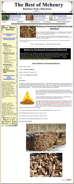 Mchenry firewood provides seasoned firewood
