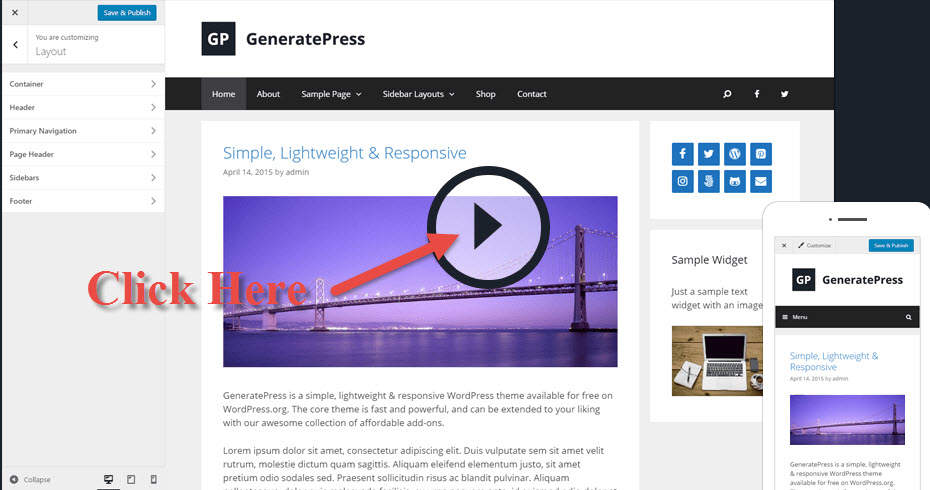 Review of GeneratePress a WordPressTheme