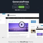 Review of GeneratePress A FREE Responsive WordPress Theme