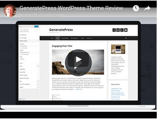 Review of GeneratePress FREE Responsive WordPress Theme